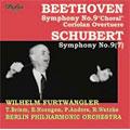 ヴィルヘルム・フルトヴェングラー/ベートーヴェン:交響曲第9番(3/22-24/1942)/コリオラン序曲(6/27/1943)/シューベルト:交響曲第9番「グレイト」:W.フルトヴェングラー指揮/BPO/他[DCCA-0004]