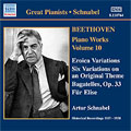 Beethoven:Complete Beethoven Sonata Society Recordings-Piano Works Vol.10:Rondo Woo49/Minuet Woo82/Six Variations On An Original Theme:Artur Schnabel[8110764]