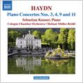 セバスティアン・クナウアー/Haydn: Piano Concertos No. 3, 4, 9 &11 / Sebastian Knauer(p), Helmut Muller-Bruhl(cond), Cologne Chamber Orchestra  [8570485]