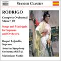 Valdes, Maximiano/Asturias Symphony Orchestra/Rodrigo: Complete Orchestral Music Vol.10 -4 Madrigales Amatorios, Cantos de Amor y de Guerra, etc (8/25-28/2003) / Maximiano Valdes(cond), Asturias SO, etc[8555845]