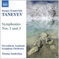 ノヴォシビルスク・アカデミック交響楽団/Taneyev: Symphony No 3 in D minor, Symphony No 1 in E minor / Thomas Sanderling(cond), Novosibirsk Academic Symphony Orchestra   [8570336]