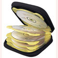 ナガオカ DVD/CDキャリングケース ハードトレイタイプ 12枚用 クリアオレンジ [CDWH12OK2]