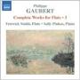 GAUBERT:COMPLETE WORKS FOR FLUTE VOL.3:DEUX ESQUISSES/NOCTURNE ET ALLEGRO SCHERZANDO/SICILIENNE/ROMANCE (1905)/TRANSCRIPTIONS BY PHILIPPE GAUBERT/ETC:SALLY PINKAS(p)/FENWICK SMITH(fl) [8557307]