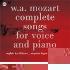 モーツァルト: ピアノ伴奏付き歌曲全集 -ドイツ語小カンタータ KV.619, 夢の像 KV.530, 満足 KV.349, 他 / ゾフィー・カルトイザー(S), シュテファン・ローゲス(Br), ユージン・アスティ(p) [MCYP-1650]