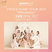 "新体感ライブ TWICE DOME TOUR 2019 ""#Dreamday"""