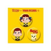 ペコちゃん × TOWER RECORDS 缶バッジ3個セット