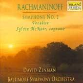 ボルティモア交響楽団/Rachmaninov: Symphony No.2, Vocalise / David Zinman(cond), Baltimore Symphony Orchestra, Sylvia McNair(S) [CD80312]