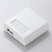ELECOM iPod 2009 AC充電器 USB White [AVAACUWH]