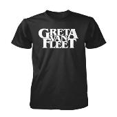 GRETA VAN FLEET ロゴTシャツ(ブラック)/Sサイズ