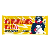NO SWALLOWS, NO LIFE. フェイスタオルつば九郎_YELLOW