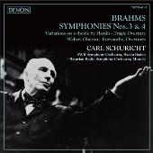 カール・シューリヒト/ブラームス: 交響曲第3番, 第4番, 他 [TWCO-41]