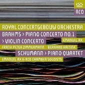 Brahms: Piano Concerto No.1, Violin Concerto Op.77; Schumann: Piano Quartet Op.47