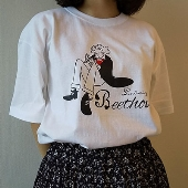 WTM クラシカルTシャツ Beethoven(イラスト) ホワイト Lサイズ