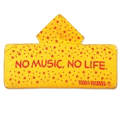 NO MUSIC, NO LIFE. フード付きタオル