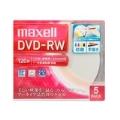 マクセル DW120WPA.5S 録画用DVD-RW 5枚 標準120分 1-2倍速ホワイトレーベル