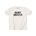 BABY DRIVER LOGO T-shirt ホワイト Lサイズ