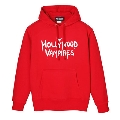 Hollywood Vampires Logo Print Sweat Hoodie Red SIZE L