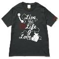 133 THE BAWDIES NO MUSIC, NO LIFE. T-shirt (グリーン電力証書付) Black/XLサイズ