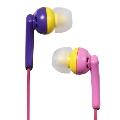 NAGAOKA 密閉型インナーイヤーヘッドホン Purple Pink