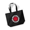 RED HOT CHILI PEPPERS / ASTERISK LOGO BLACK SHOPPER BAG