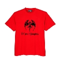 Hollywood Vampires Bat Print Tee RED SIZE L