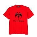 Hollywood Vampires Bat Print Tee RED SIZE XL