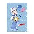 おそ松さん × TOWER RECORDS A4クリアファイル カラ松(ブルー)