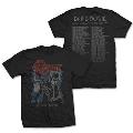David Bowie/72 World Tour Date T-Shirt(Back Print) Lサイズ