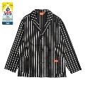 COOKMAN Lab.Jacket stripe Blak BLACK Mサイズ