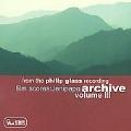 Philips Glass Recording; Archive Vol.3 / Michael Riesman(p/cond), Studio Musicians