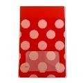 タワレコ 推し色ラッピング袋 Red(水玉)