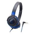 audio-technica ポータブルヘッドホン ATH-S100 Black Blue