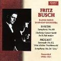 """Fritz Busch Recorded 1948-1951 -Haydn: Symphony No.88 Hob.I-88; Mozart: Serenade No.13 K.525 """"Eine Kleine Nachtmusik"""", etc / Danish Radio SO"""