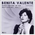 Benita Valente - Great Singers of the 20th Century Voi.1