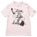 133 THE BAWDIES NO MUSIC, NO LIFE. T-shirt (グリーン電力証書付) Baby Pink/XSサイズ
