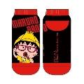 MARUKO BAND 靴下 まる子 Black × Red