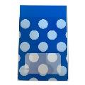 タワレコ 推し色ラッピング袋 Blue(水玉)