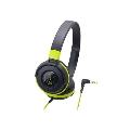 audio-technica ポータブルヘッドホン ATH-S100 Black Green
