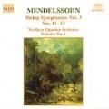 Mendelssohn: String Symphonies Vol 3 / Ward, Northern CO