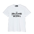 Hollywood Vampires Logo Print Tee WHITE SIZE M