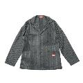 COOKMAN Lab.Jacket WoolmixStripe Gray L サイズ