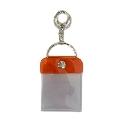 タワレコ 缶バッジキーホルダー57mm用 Orange