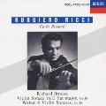 R.シュトラウス:ヴァイオリン・ソナタ ウェーバー:6つのヴァイオリン・ソナタ