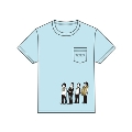 『人生』イラスト 胸ポケット Tシャツ L