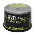 グリーンハウス DVD-R データ用 1-16倍速 50枚スピンドル