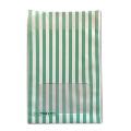 タワレコ 推し色ラッピング袋 Green(ストライプ)