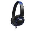 JVC ヘッドバンド式ポータブルヘッドホン HA-S200 ブラック&ブルー