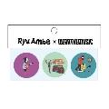 Ryu Ambe × WEARTHEMUSIC Can Badge Set(3個セット)