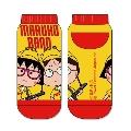 MARUKO BAND 靴下 まる子 & たまえ Yellow × Red