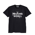 Hollywood Vampires Logo Print Tee BLACK SIZE S
